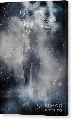 Energy Combustion In Thought Creation Canvas Print