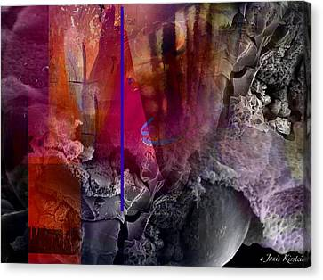 Energy Fields 3 Canvas Print by Janis Kirstein