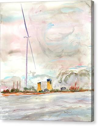 Energy On The Rhone Number One Canvas Print