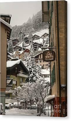 Engelberg Switzerland Canvas Print by Caroline Pirskanen