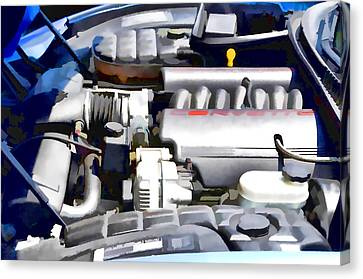 Engine Compartment 1 Canvas Print by Lanjee Chee