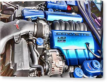 Engine Compartment 4 Canvas Print by Lanjee Chee