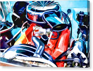 Engine Compartment 6 Canvas Print by Lanjee Chee