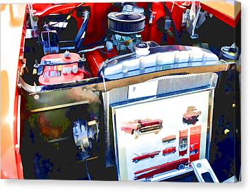 Engine Compartment 9 Canvas Print by Lanjee Chee