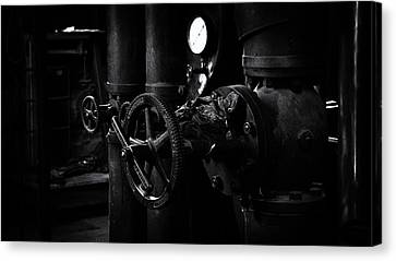 Canvas Print featuring the photograph Engine Room by Tim Nichols