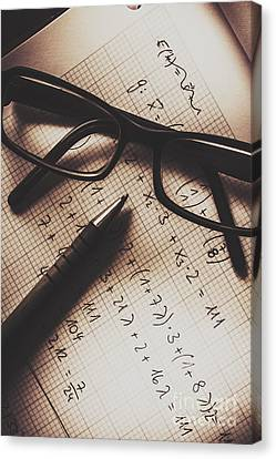 Engineer Students Technical Equations In Mechanics Canvas Print