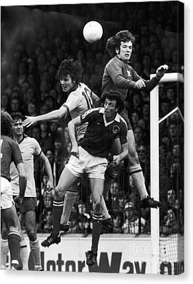 Goalkeeper Canvas Print - England: Soccer Match, 1977 by Granger