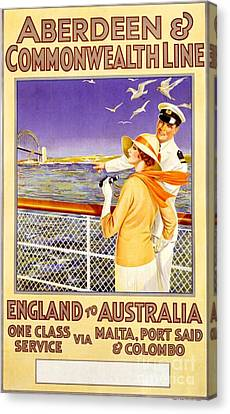 England To Australia Canvas Print