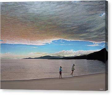 English Bay Vancouver Canvas Print by Kenneth M  Kirsch