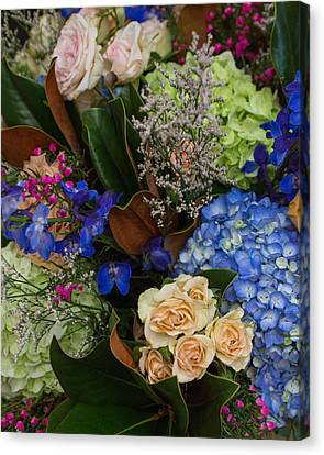 Canvas Print featuring the photograph English Bouquet by Julie Andel
