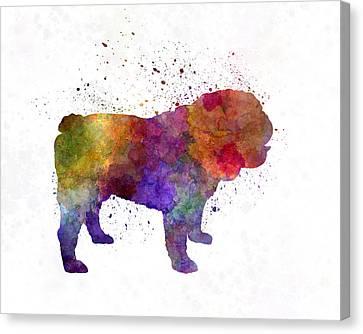 English Bulldog In Watercolor Canvas Print by Pablo Romero