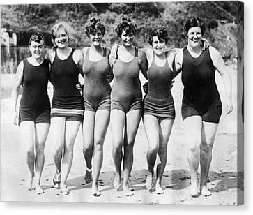 English Channel Swim Hopefuls Canvas Print by Underwood Archives