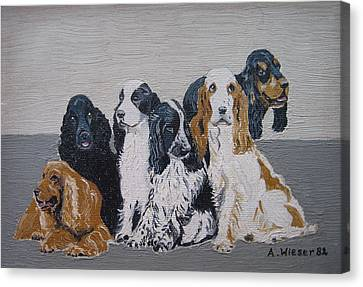 English Cocker Spaniel Family Canvas Print by Antje Wieser
