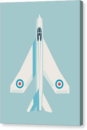 English Electric Lightning Fighter Jet Aircraft - Sky Canvas Print by Ivan Krpan