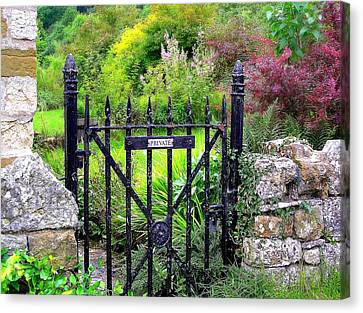English Garden Gate Canvas Print by Jen White