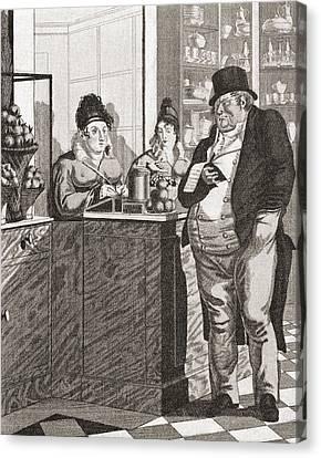 English Gentleman Paying The Bill Canvas Print