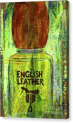 Canvas Print featuring the painting English Leather by P J Lewis