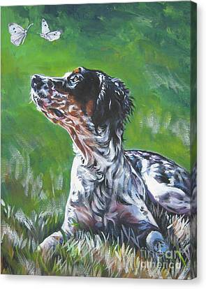 English Llewellin Setter Canvas Print