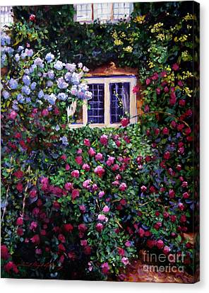 English Manor House Roses Canvas Print
