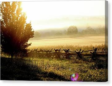 Canvas Print featuring the photograph English Morning by Everett Houser