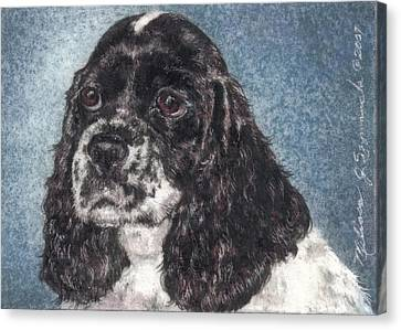 English Springer Spaniel Annie Canvas Print by Melissa J Szymanski