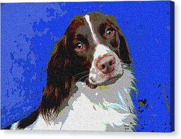 House Pet Canvas Print - Brittany Spaniel by Charles Shoup