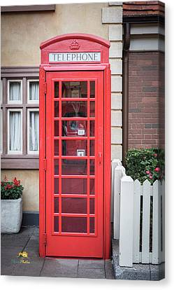 English Telephone Booth Canvas Print by Jim Thompson