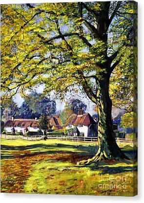 English Village Canvas Print by David Lloyd Glover