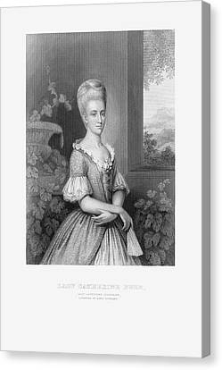 Engraved Portrait Of Lady Catherine Duer, Circa 1780 Canvas Print by Craig McCausland