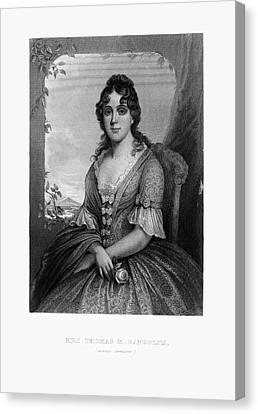 Engraved Portrait Of Mrs. Thomas Randolph, Martha Jefferson, Circa 1780 Canvas Print by Peacock Graphics