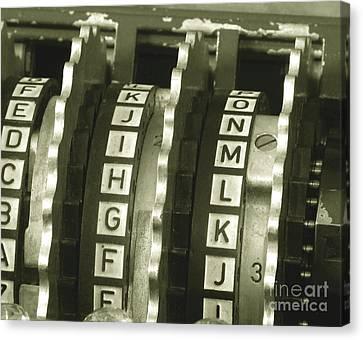 Enigma Canvas Print - Enigma Cipher Machine by English School