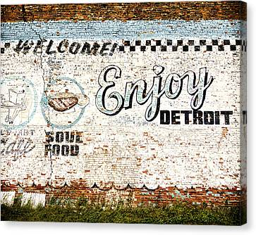 Enjoy Detroit Canvas Print by Humboldt Street