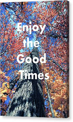 Enjoy The Good Time  Canvas Print