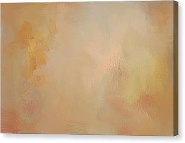 Enjoy The Little Things Autumn Abstract Painting Canvas Print by Jai Johnson