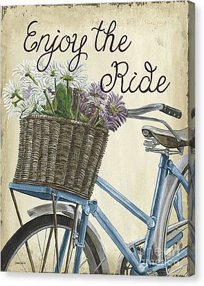 Enjoy The Ride Vintage Canvas Print by Debbie DeWitt
