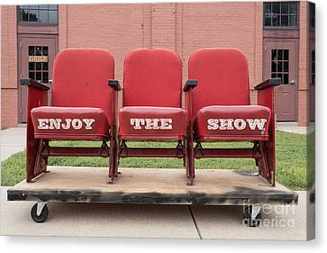 Enjoy The Show Sign Canvas Print by Edward Fielding