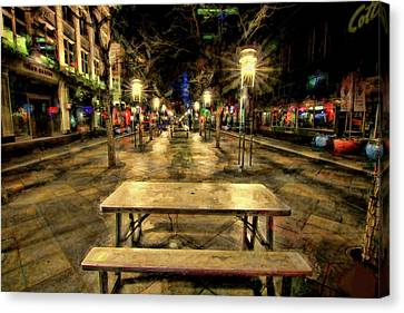 Store Fronts Canvas Print - Enjoy The View by Todd Yoder