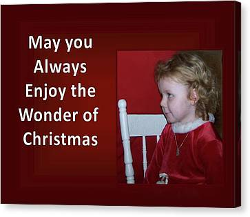 Canvas Print featuring the digital art Enjoy The Wonder Of Christmas by Sonya Nancy Capling-Bacle