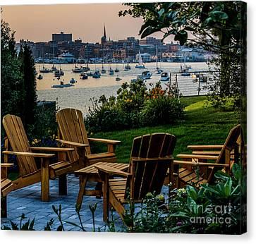 Enjoying The Portland View Canvas Print