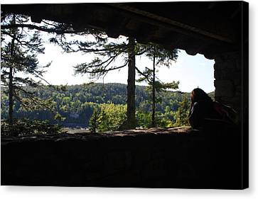 Canvas Print featuring the photograph Enjoying The View II by Greg DeBeck