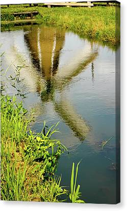 Canvas Print featuring the photograph Enkhuizen Windmill by KG Thienemann