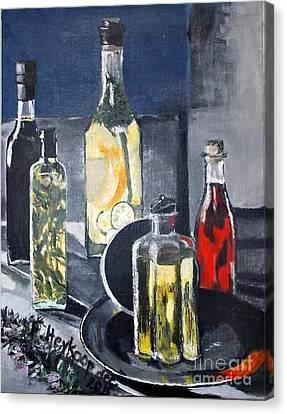 Enliven Salads Canvas Print by Francine Heykoop