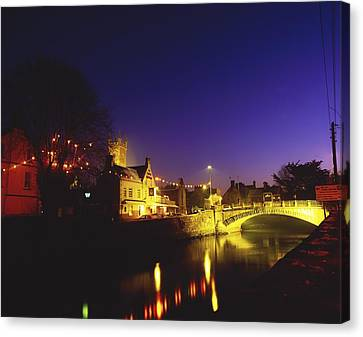 Ennis, Co Clare, Ireland Bridge Over Canvas Print by The Irish Image Collection