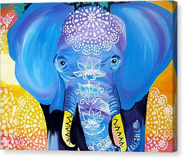 Enormous Joy Canvas Print by Cathy Jacobs