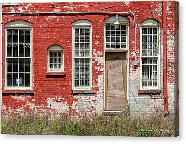 Canvas Print featuring the photograph Enough Windows by Christopher Holmes
