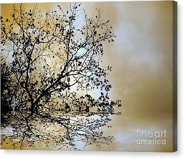 Canvas Print featuring the photograph Entangled by Elfriede Fulda