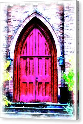 Finger Lakes Canvas Print - Enter All Ye Faithful by Leslie Montgomery