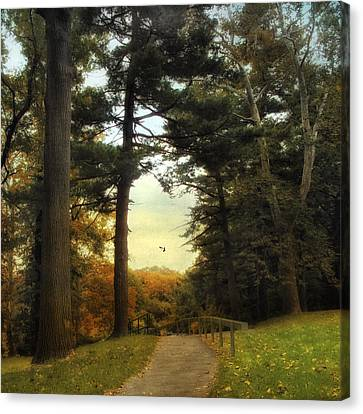 Enter Autumn Canvas Print by Jessica Jenney