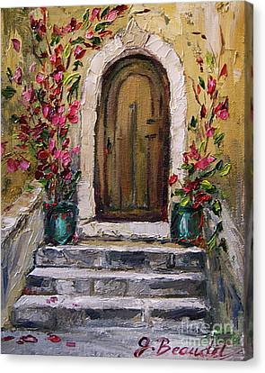 Canvas Print featuring the painting Enter Here by Jennifer Beaudet