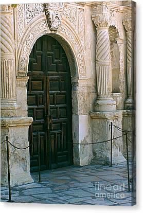 Enter The Alamo Canvas Print by Methune Hively